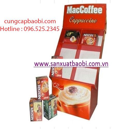 Kệ giấy trưng bày cafe