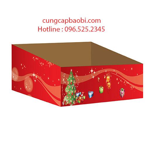 Khay giấy trưng bày hàng Noel