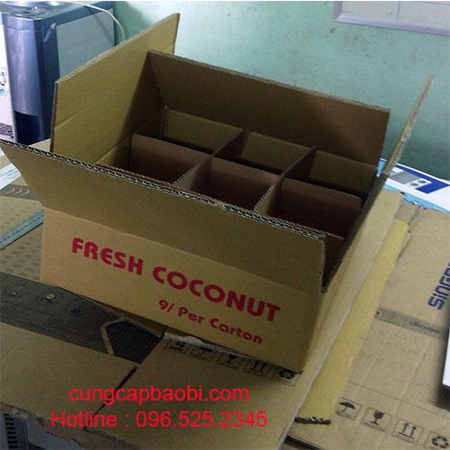Thùng carton đựng dừa tươi